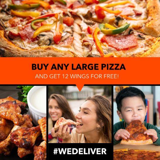 Pizza Promo Website Banner